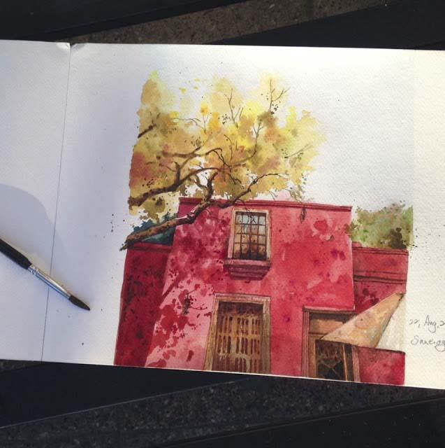 《繪於南美洲》一些水彩和速寫 watercolor &sketches