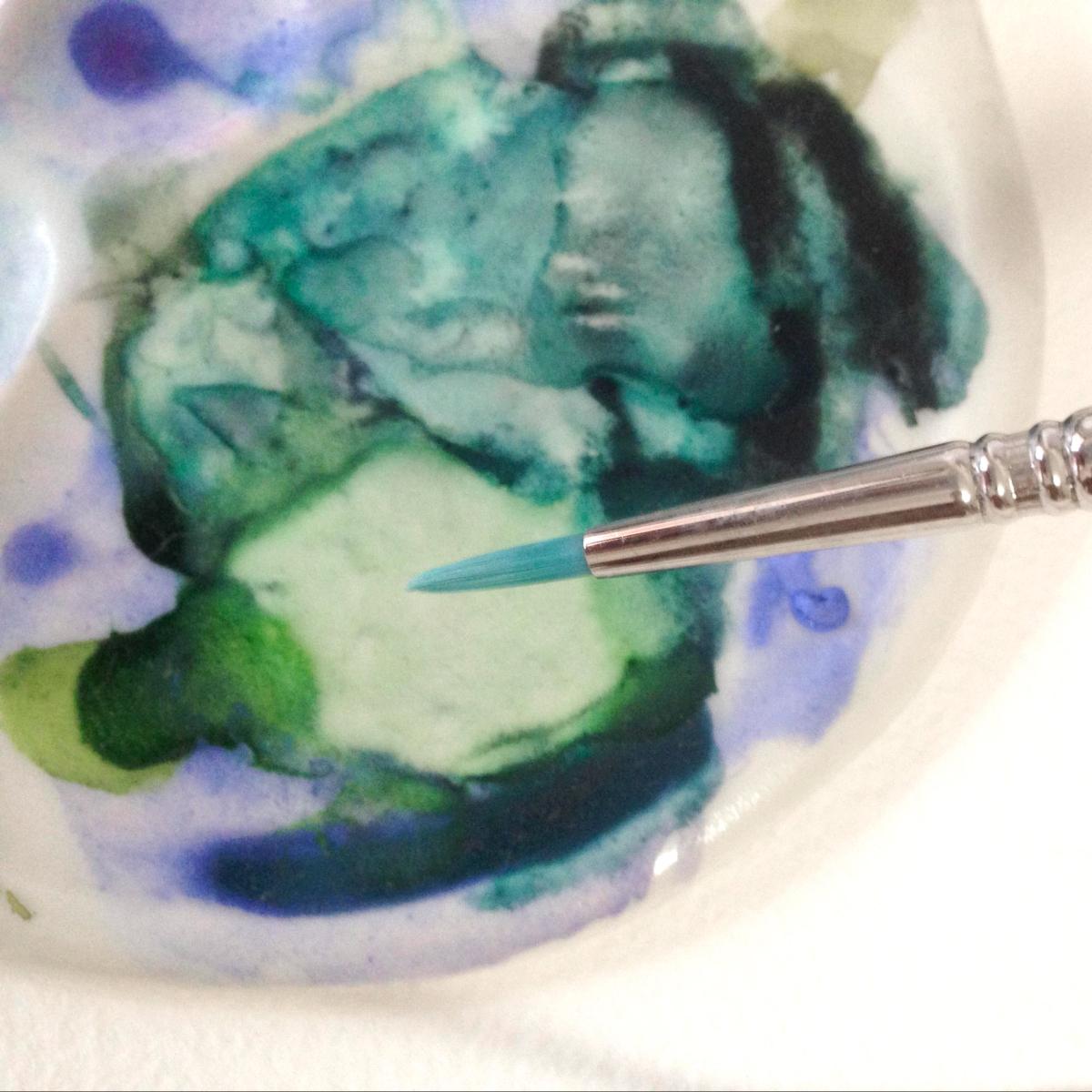 沉澱色水彩顏料 Granulating watercolor